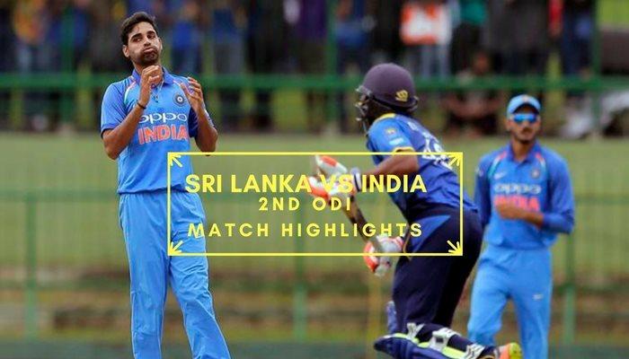 Srilanka Vs India 2nd Odi Cricket Highlights
