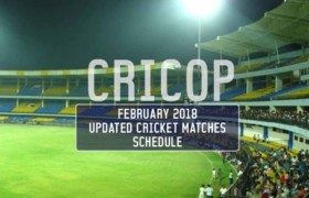 Cricket Matches Schedule February 2018