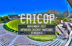Cricket Matches Schedule For November 2017