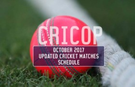 Cricket Matches Schedule For October 2017
