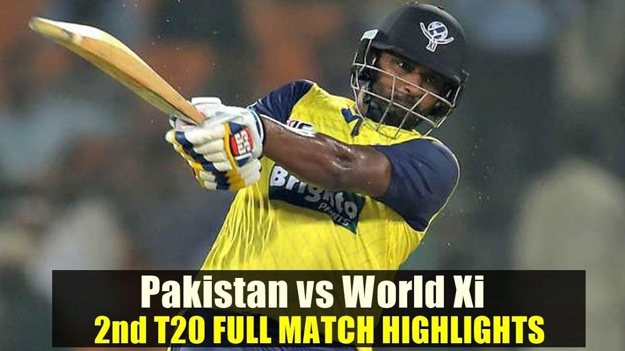 Today Match Highlights Pakistan Vs World XI 2nd T20 Sep 13 2017