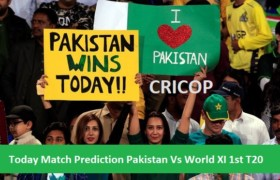 Today Match Prediction Pakistan Vs World XI 1st T20 12 September 2017