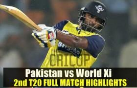 Match Highlights Pakistan vs World XI 2nd T20 Sep 13, 2017