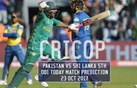 Pakistan Vs Sri Lanka 5th ODI Today Match Prediction 23 Oct 2017