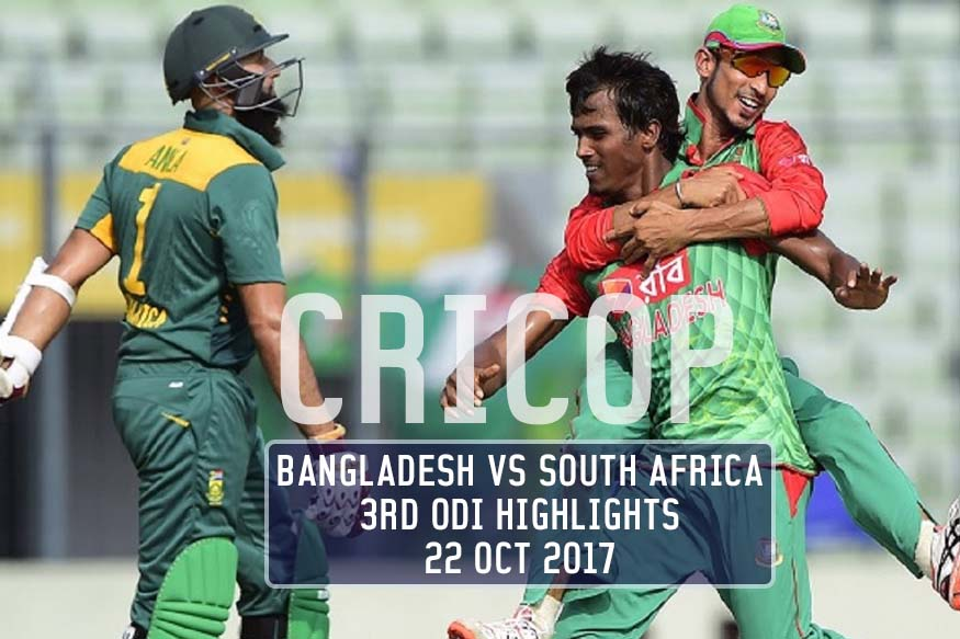 South Africa Vs Bangladesh 3rd ODI Highlights Cricop