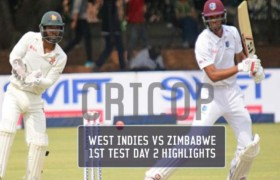 West Indies vs Zimbabwe 1st Test Day 2 Highlights