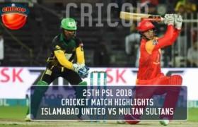 Cricket Match Highlights Multan Sultans Vs Islamabad United