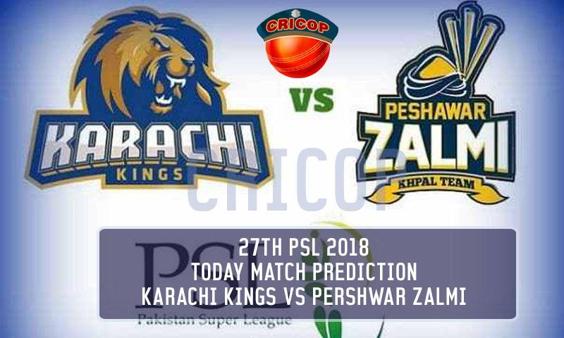 Karachi Kings VS Peshawar Zalmi Today Match Prediction