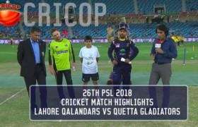 Lahore Qalandar VS Quetta Gladiators Match Highlights