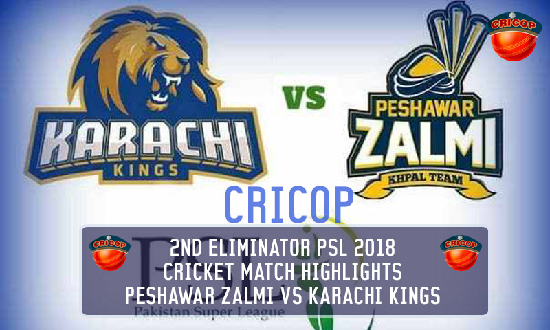 Peshawar Zalmi VS Karachi kings Today Match Highlights