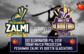 Peshawar Zalmi VS Quetta Gladiators Today Match Prediction