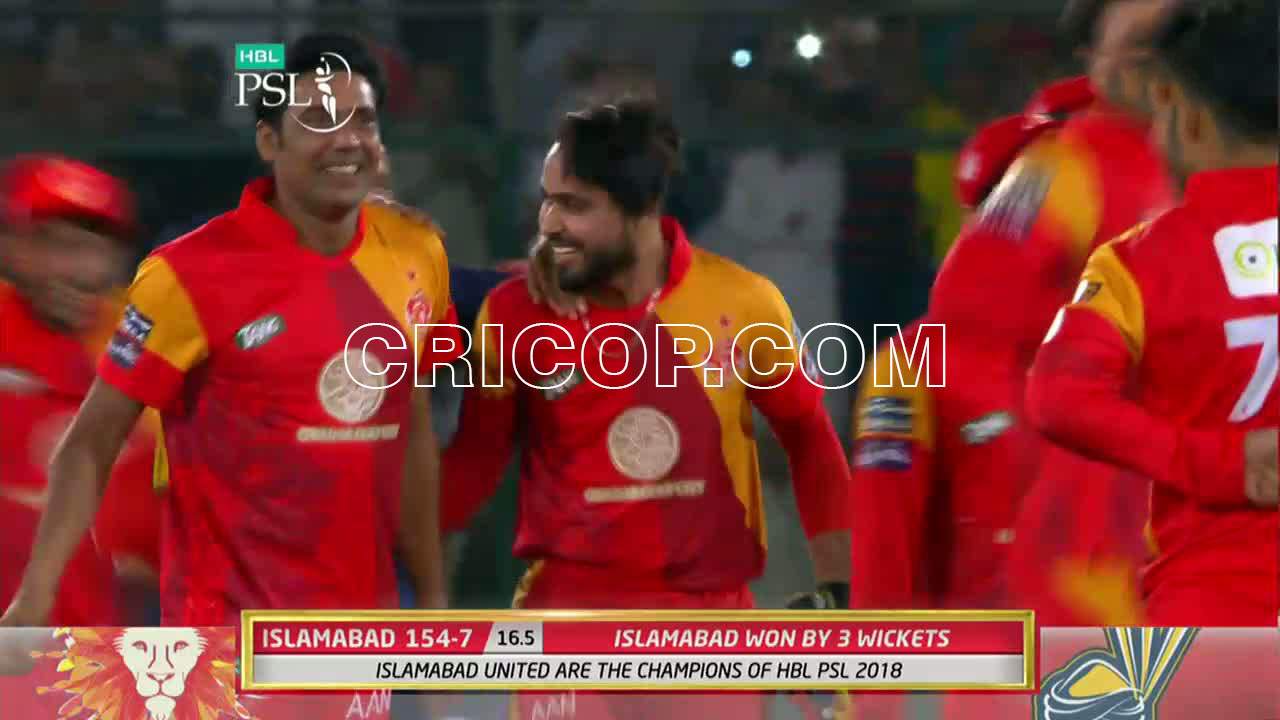 Peshawar Zalmi Vs Islamabad United PSL 2018 Final