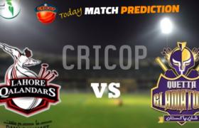 Today Match Prediction Lahore Qalandars VS Quetta Gladiators