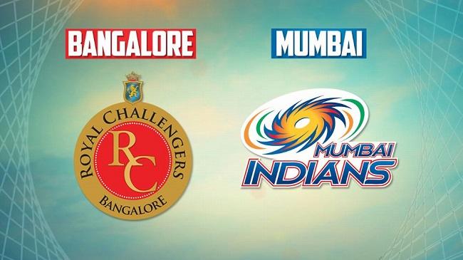 MI VS RCB - Royal Challengers Bangalore Mumbai Indians